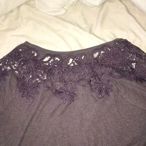 American Eagle Outfitters Tops - American Eagle waffle long sleeve with lace detail